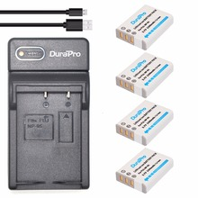 4pc NP-95 NP 95 NP95 Replacement Li-ion Battery + USB Charger For FUJIFILM F30 F31 F30fd F31fd 3D W1 X100T X100S X100 X-S1 3DW1(China)
