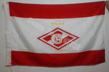 Russian FC Spartak of Moscow city Flag hot sell goods 3X5FT 150X90CM Banner brass metal holes