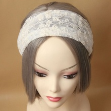 Brand New Personality Retro Women White Lace Hair Band Headband Head Wrap Ribbon Hair Jewelry(China)