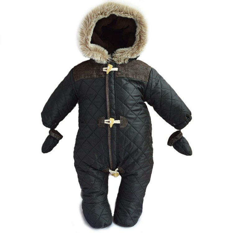 Original 2015 new baby romper newborn clothing boys winter warm snowsuit hoodies outerwear infants romper clothes baby overalls<br>
