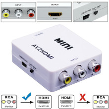 Mini 1080P Composite AV RCA to HDMI Video Converter Adapter Full HD 720/1080p UP Scaler AV2HDMI for HDTV Standard TV L3EF