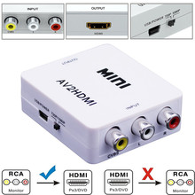 Mini 1080P Composite AV RCA to HDMI Video Converter Adapter Full HD 720/1080p UP Scaler AV2HDMI for HDTV Standard TV L3EF(China)