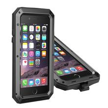 "Luxury Metal Armor Outdoor Hybrid Heavy Duty Shockproof Aluminum Case For iPhone X 5.8"" 7 Plus 8 Plus SE 4S Life Waterproof Case"