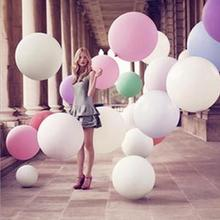 2Pcs Colorful Blow up 36 Inches Oversized Ball Balloon Helium Inflable Big Latex Balloons For Wedding Birthday Party Decorations(China)