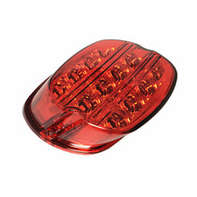 1PCS Red Layback license plate Motorcycle LED Brake Tail Light for 2013 Superlow XL883L Harley Dyna Fat Boy FLSTF Night Train FX(China)