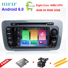 HIFIF Android 6.01 CAR DVD GPS Player Bluetooth Car Sat Nav Stereo Radio Navigation 2 Din GPS Head Unit For SEAT IBIZA 2009-2013(China)