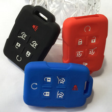 1PC Car Key Accessory Skin Jacket Silicone Key Holder Case Cover For Chevrolet Tahoe Suburban GMC Yukon Chevy Traverse