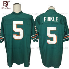 2017 Cheap Throwback American Football Jerseys Ray Finkle #5 Ace Ventura Movie Miami Football Jersey Teal Green Sewn Shirts