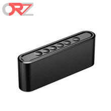 Orz 2017 X6 Bluetooth Speaker Portable Mini Wireless Speakers 2200mah Rechargeable Battery Dual Bass Loudspeaker for iPhone PC(China)