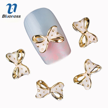 Blueness 10Pcs/Lot 3D Nail Art Decorations Glitter Crystal Bow-knot Studs Design Nail Art Tips Craft DIY Accessories Tips TN295