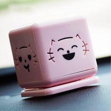 Car air freshener Smile cat car perfume 4 patterens and flavors for choice Rotatable can get a different expression Cat perfume(China)