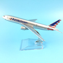 American Airlines Boeing 777 16cm alloy metal model aircraft child Birthday gift plane models toys for children gift(China)