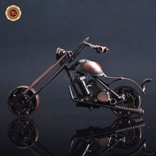 New Iron Motorcycle Model Home Decor Ornaments for Boy Birthday Bar Festival Gifts