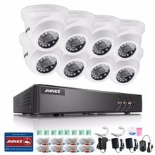 ANNKE HD 720P 16CH CCTV System 5IN1 DVR 8pcs 720P 1500TVL IR Outdoor Waterproof Security Camera 16CH CCTV Surveillance kit(China)