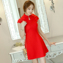 Office Dress Sale Real Polyester Sexy & Club Summer Dress 2017 Couture Korean Fashion Ladies Temperament Slim Female Backing