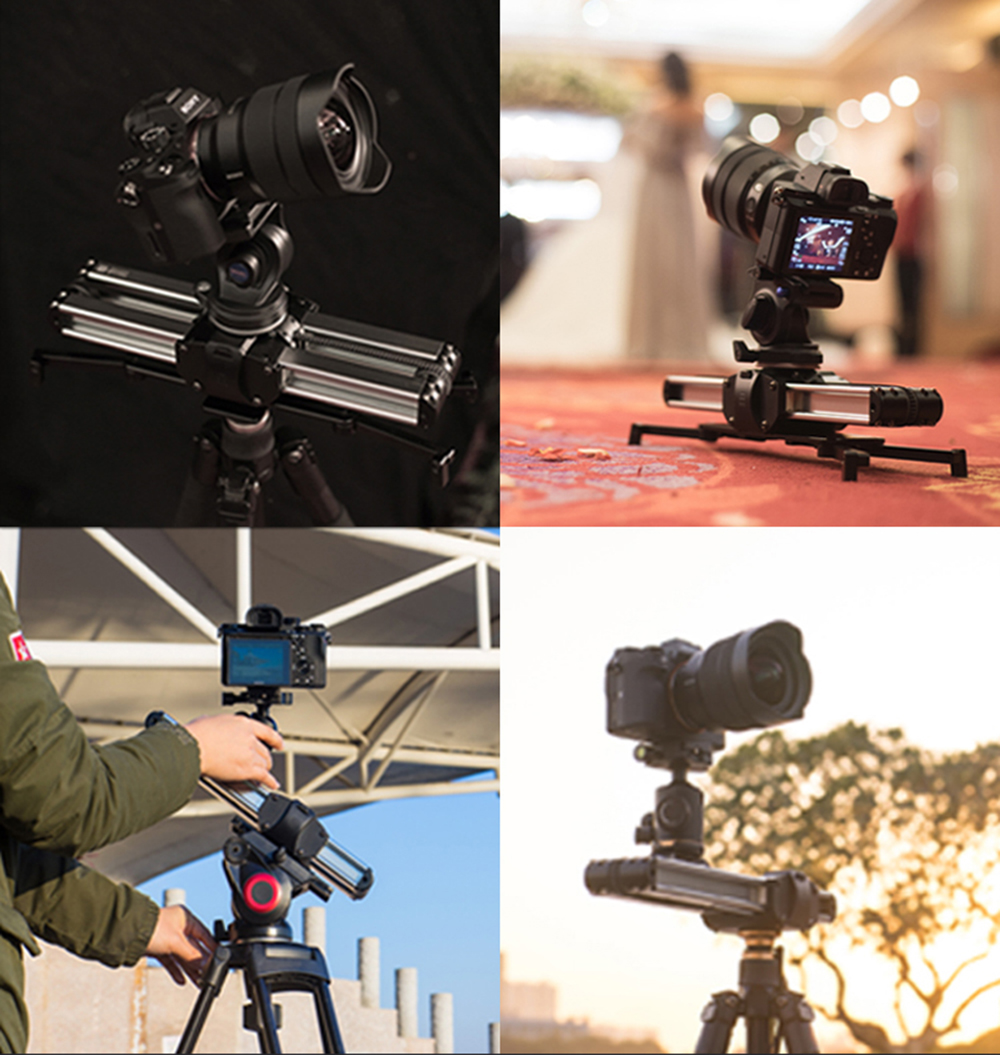 Portable Micro 2 Professional Camera Video Slider Travel Track Slider Dolly Track Rail for DSLR ARRI Mini RED BMCC  Iphone X 16