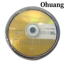 5 discs 100% Authentic Grade A LenBrand 8.5 GB Printed DVD+R DL Disc(China)