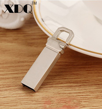 2017 new waterproof silver metal usb flash drive pen drive 8GB 16GB 32GB 64GB 128GB USB 2.0 Flash memory pendrive U disk gift