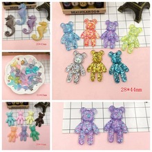 Free Shipping!! Resin Kawaii Hot Selling Sea Horse, Cute Tail, Sparkle Bear for Jewelry Accessory, Hair Bow Center, DIY(China)