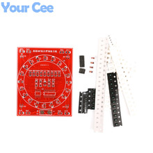 2016 New 2 Sides SMT SMD Electronic Component Welding Practice Board Mini PCB Soldering Skill Training Running Water Light
