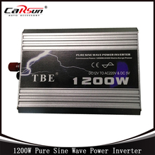 1200W 1200WATT Car 12V DC In to 220V AC Out Pure Sine Wave 1.2KW Power Inverter Car Converter