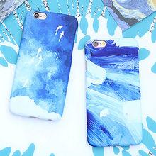 LACK Funny Graffiti Painting Inkjet Cover For iphone 6 Case For iphone 6S 6 Plus Phone Cases Blue Ocean Cartoon Fish Back Cover(China)
