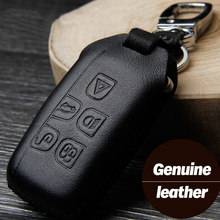 Leather Car Styling Key Cover Case For Land Rover Range Rover Sport Evoque Freelander 2 Discovery 2 3 4 Jaguar XF A8 A9 X8