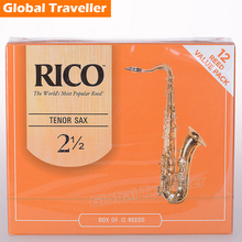 1 piece or 12pcs/box RICO Strength 2.5 / 3 Traditional Bb Tenor sax Reeds Classical Tenor Sax Reeds Beginner Reeds Saxophone use