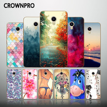 CROWNPRO Meizu M5 5.2 inch Case Silicone Meizu M5 Mini Soft TPU Back Covers Meizu M 5 Prime Phone Cases