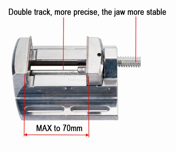 CNC milling machine tool Bench clamp Jaw mini table vice plain vice parallel-jaw vice LY6258<br>