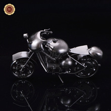 WR Xmas Presents Diecast Sliver Plated Model Motorcycles Cheap Souvenir Table Decorations