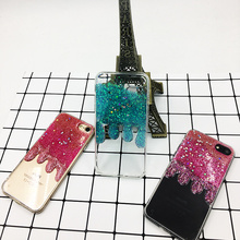 Trendy Ice Cream Melting Glitter Case For iPhone 6 6S PLus Cover For iPhone7 Plus Soft TPU Shinning Bling Silcon Back Cover