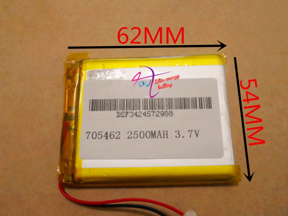 lithium polymer core 3.7V 705462 075462 2500mah with protection board<br><br>Aliexpress
