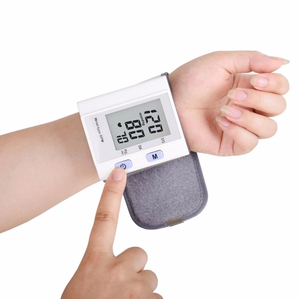 Wrist Type Full-automatic Tonometer Meter Smart Digital Blood Pressure Monitor Health Care Household Sphygmomanometer Hot New 2