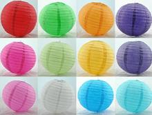 Mulit color option 14 inch 35cm Round Chinese Paper Lantern for Birthday Wedding Party Decoration gift craft DIY