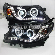 For Subaru Forester LED Angel Eyes Head Lamp with Bi Xenon Projector Lens 2008-2011 Year LD(China)