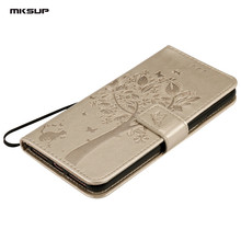 Buy MKSUP Luxury Embossing PU Leather Case 3D Cat Tree Wallet Flip Protective Phone Cover Apple iPhone 8 Plus 8+ Coque Shell Bag for $3.86 in AliExpress store