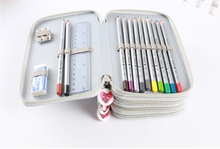 Hot Sale 72 Holders Colored Pencil Sketch Brush PVC Drop Pencil Bag Box Porous Pencil Case Stationery Office School Supplies(China)