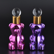 MUB - Unique Small Bear 12ml Perfume Bottles With Drop Fahsion Mini UV Glass Bottle Flacon Vide Cosmetique