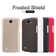 Nillkin Frosted Shield Cell Phone Case For LG K4 Hard PC Back Cover for LG K4 K120E K130E Case + Gift Screen Protector for LG K4(China)