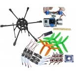 Tarot Fy680 Folding Aircraft RTF Kit Tarot 3k Frame + Gimbal + 750kv Motor + KK Connection Board + Hobbywing ESC