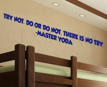 Wall Art Decal Sticker Quote Vinyl Lettering Try Not Master Yoda Star Wars wall decor(China)