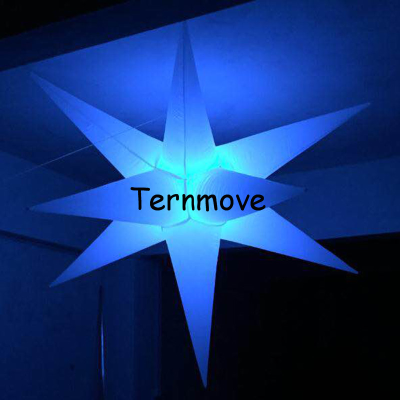 inflatable star with LED light4