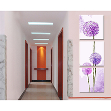 Triptych acrylic painting on canvas, Dandelion flower,pictures by numbers, Modular wall paintings, coloring by numbers RS195