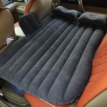 Deflatable Air Inflation Car Bed Mattress Back Seat Camping Flocking PVC Original Drive Travel Car Seat Cover Automobile