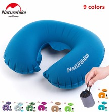 Brand NatureHike Portable U Shape Inflatable Pillow Sleeping Travel Inflatable Cushion Neck Protective HeadRest Plane Pillow