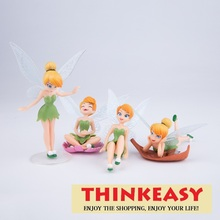4 pcs/set girl cute toys my little TINKERBELLs lady, birthday gift chidren toys, PVC decoration dolls with cartoon theme Anime(China)