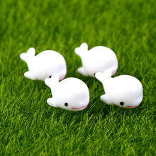 5Pcs New Resin Cute Mini Dolphins Home Micro Fairy Animals Figurines Home Party Wedding DIY Decoration Approx 1*2cm(China)