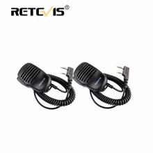 2pcs High Impact Plastic Handheld PTT Speaker Microphone For Kenwood Retevis RT3 RT8 RT81 RT5R H777 RT7 For Baofeng UV5R bf888S