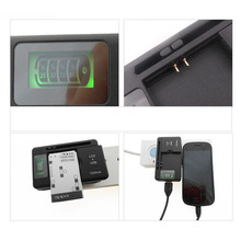 100pcs/lot US Typle Mobile Phone Battery Charger Cellphone Universal Charger With LCD Display and 1250mAh Output
